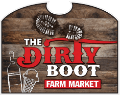 the dirty boot farm market sign at Grims Orchard