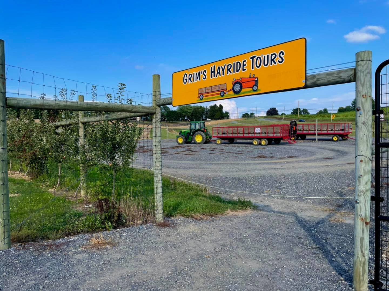 hay rides at Grims Orchard & Family Farm